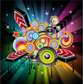 Disco Music Background Royalty Free Stock Images
