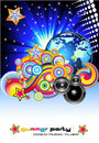 Disco Music Background Stock Photos