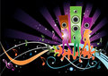 Disco nightlife illustration Royalty Free Stock Photos