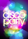 Disco party design on a bokeh background. Royalty Free Stock Photo