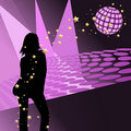 Disco party girl Stock Photo