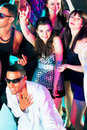 Disco party people dancing in a club Royalty Free Stock Photo