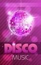 Disco poster Royalty Free Stock Photo