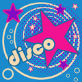 Disco retro themed invitation card Royalty Free Stock Photos