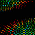 Disco style colorful halftone Royalty Free Stock Photo