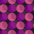 Disco style geometry seamless pattern