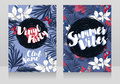 Disco style invitations in trendy tropical style