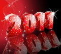 Disco style new year Stock Photography