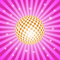 Discoball  with stars Royalty Free Stock Photos