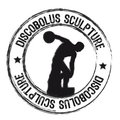 Discobolus sculpture Royalty Free Stock Image