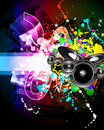Discoteque Music Flyer Royalty Free Stock Photography
