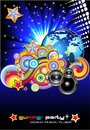 Discotheque Colorful Background for Flyers Stock Photo