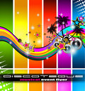 Discotheque flyer tor music event Royalty Free Stock Photo