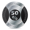 Discount badge design on white background Stock Photo