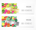Discount banners set for any promotion Royalty Free Stock Photography