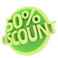 Discount button Royalty Free Stock Images