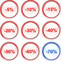 Discount buttons. Stock Images