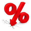 The discount d generated picture of a percent sign Stock Image
