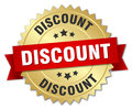 Discount 3d gold badge Royalty Free Stock Photo