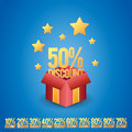 Discount gift box vector illustration of a magical with discounts Stock Photo