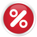 Discount icon premium red round button Royalty Free Stock Photo