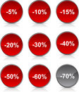 Discount  icons. Royalty Free Stock Photo