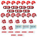 Discount icons Royalty Free Stock Image
