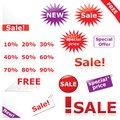 Discount icons & labels Royalty Free Stock Photos