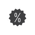 Discount label icon vector, filled flat sign
