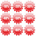 Discount label and sticker Stock Photography