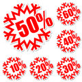 Discount labels Royalty Free Stock Image