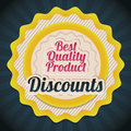 Discount labels illustration of and special offers seasonal discounts vector illustration Stock Image