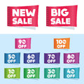 Discount labels set of available in both jpeg and eps formats Stock Photos