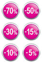 Discount labels set of illustration Stock Image