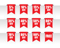 Discount paper tag labels Royalty Free Stock Photo