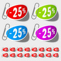 Discount percent labels Royalty Free Stock Images