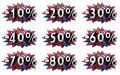 Discount percent set isolated done in d Stock Photography