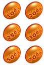 Discount percentage icons Stock Photo