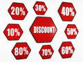 Discount and percentages buttons Royalty Free Stock Photos