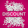 Discount poster Royalty Free Stock Photography