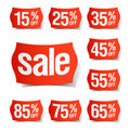 Discount price tags Stock Photo