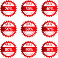 Discount price tags vector illustration Stock Photo