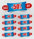 Discount prices Stickers Royalty Free Stock Photo