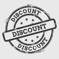 Discount rubber stamp isolated on white.