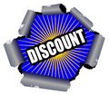 Discount Rupture Sign Stock Photography