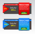 Discount sale banners promotional banner design vector illustration Stock Image