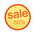 Discount sale icon half percent. Vector illustration