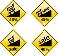 Discount Sale Percent Label Sign Symbol Royalty Free Stock Photo