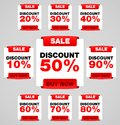 Discount or sale tag Royalty Free Stock Photos