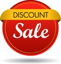 Discount sale web button icon Royalty Free Stock Photo